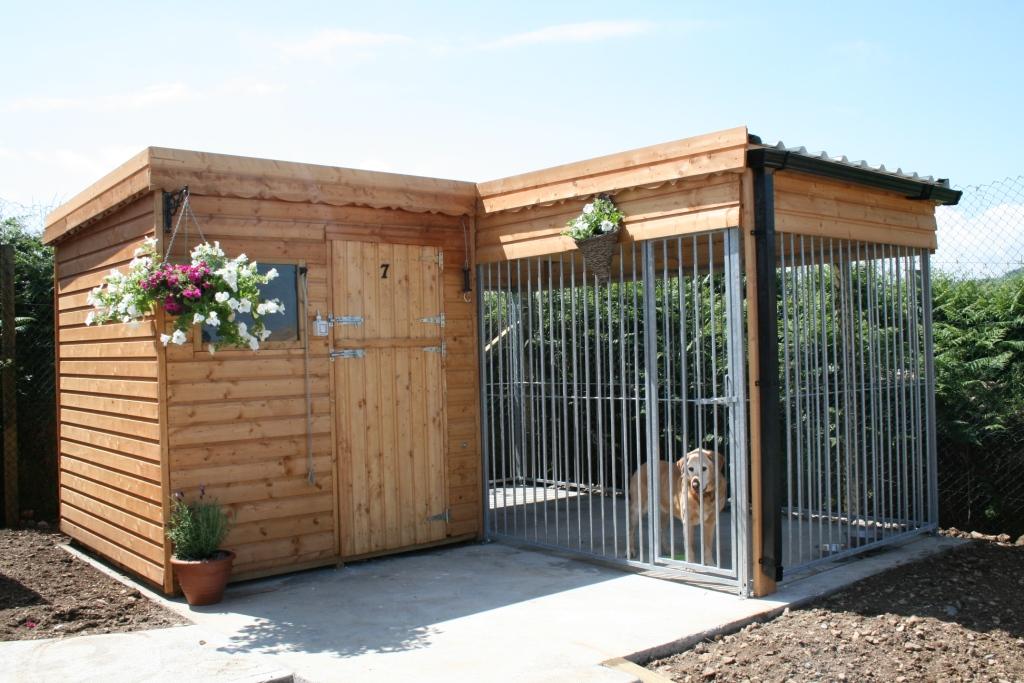 Indoor Outdoor Dog Kennel Building Designs